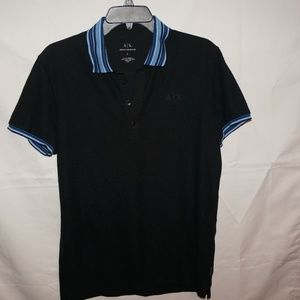 ARMANI EXCHANGE BLACK POLO L